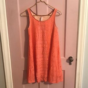 Xhilaration peach lace sleeveless dress
